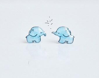 elephant earrings,cute elephant earrings,elaphant jewerly.stud earrings