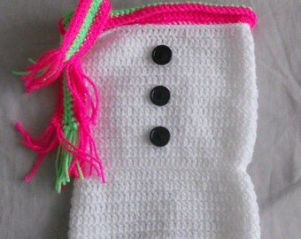 Snowman Baby Cocoon with Scarf and Hat