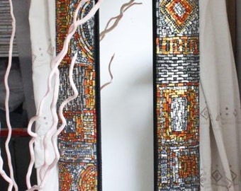 "Rectangular mirror with Mosaic ""CHIC"""