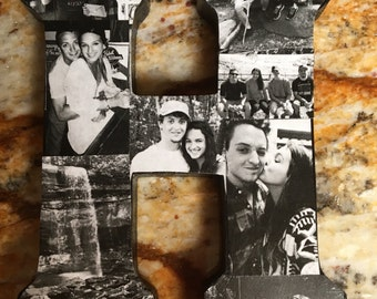 """Custom 13.5 in. Letter photo collage (13.5"""")"""