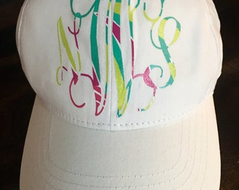 HTV inspired Lily  Pulitzer hat