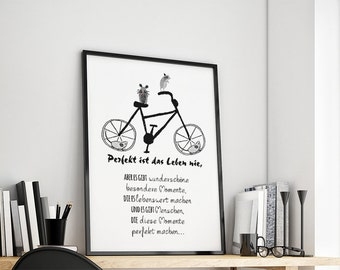 Life is never perfect gift family art print