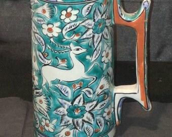 Vintage Handmade & Painted Greek Stein