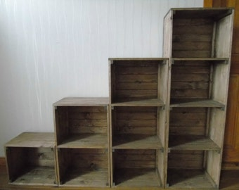 Retro Style Handmade Free Standing Shelving Unit- Many Colours and Sizes