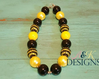 Black & Yellow Chunky Bead necklace