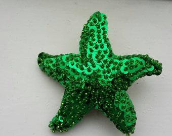 Hand beaded mermaid starfish hair piece