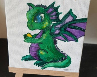 Mini canvas dragon