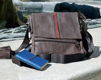 Men's genuine leather shoulder bag mod. billo