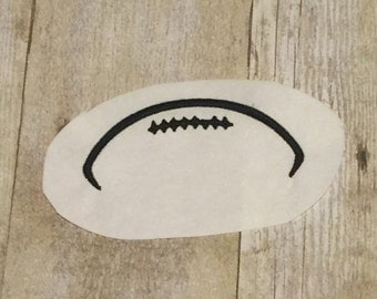 Football Outline Embroidery Design, Football Applique