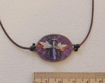 Purple Angel Necklace