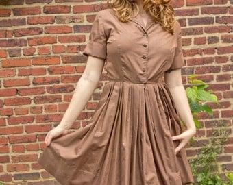 1960s RockABilly Shirtwaist Dress