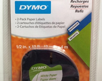 2 Pack White Paper Tape  Dymo LetraTag Refill