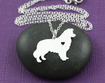 Border Collie Dog Pendant Necklace