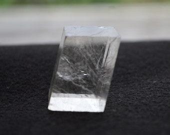 Natural Optical Calcite Crystal Clear Rectangular Prism Display Specimen