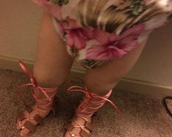 Baby girl gladiator sandals