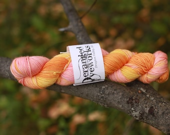 Twisted Grapefruit - 100% Superwash Merino Wool Yarn - Worsted Weight