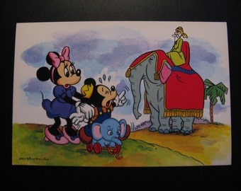 Original vintage card Walt Disney Productions 80s ... Mickey Mouse