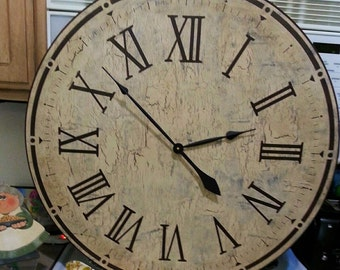30 Inch Extreme Distressed Clock