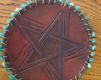 Handcrafted Leather Altar Tile