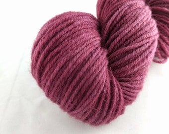 Yarn - Wine Colorway -100% Wool - Hand Dyed - Knit - Crochet - Worsted Weight