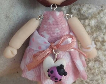 Doll long pendant