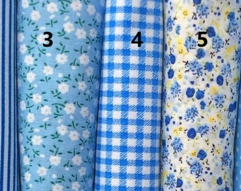 Classical Blue Series 100% Cotton Fabric per Half Meter