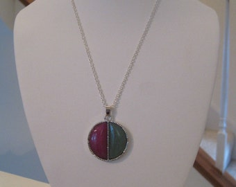Purple Agate and Aventurine Gemstone Necklace