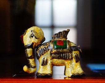 Painted Lacquer sculpture Elephant  water puppet . Home decoration
