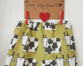 Little girls cow skirt