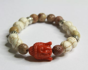 Earth-toned Buddha Bracelet