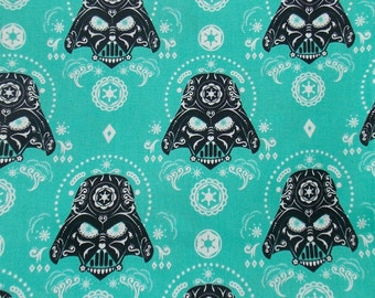 Darth Vader Fabric Sugar Skull Fabric BTY BTHY Star Wars Darth Vader Quilt Fabric Craft Fabric Pillowcase Fabric Home Decor Movie Fabric