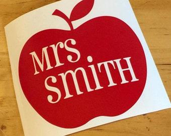 Personalized Teacher Vinyl Decal