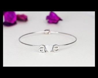 Initial monogram bracelet