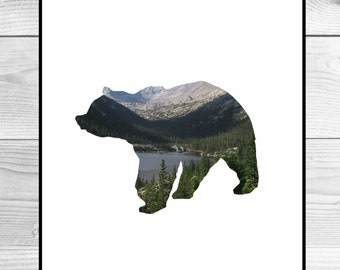 Nursery Art Print - Bear