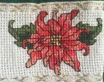 Christmas Stocking - Poinsettia - Christmas Star