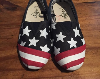American flag shoes size 7/8