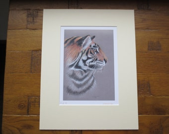 Limited edition Tiger giclee print.