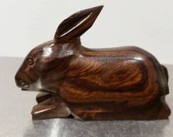 Rustic Wooden Rabbit
