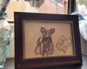 Original Artwork, Framed, Graphite and Paper, Gift