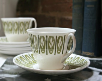 Rare 1950s Shelley Apollo Vintage China Teacup - FREE Shipping