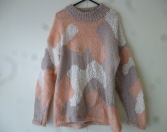 Multicoloured knitted pullover -M
