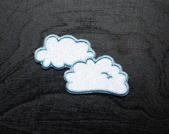 Clouds Iron On Patch