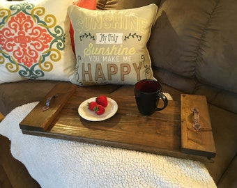 Beautiful Rustic Solid Wood Serving Tray, Rustic Home Decor, Farmhouse Decor, Wedding Gift, Country Home Decor, Custom Gift, Personalized