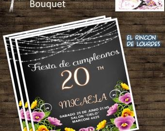 invitation bouquet