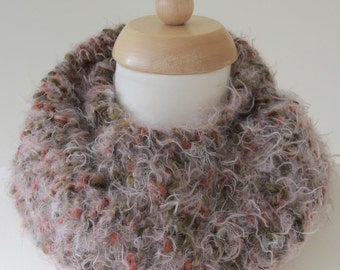 Soft Cosy Hand Knitted Circular Scarf/Cowl