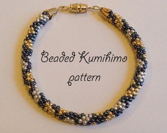 Beaded kumihimo pattern tutorial bracelet