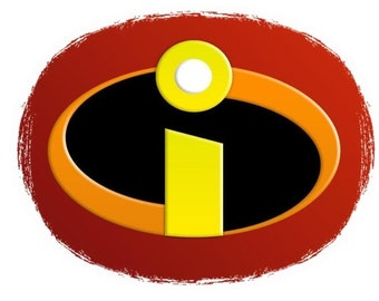 The Incredibles Logo T shirt Iron on Transfer 8x10 or 5x6 light fabric