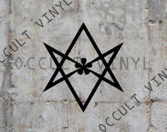 Unicursal hexagram vinyl sticker