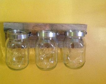 Triple Hanging Mason Jar