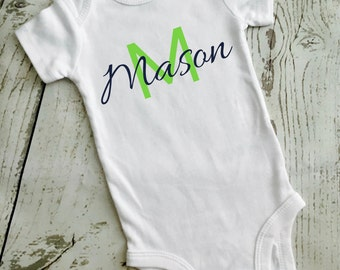 Personalized Name Bodysuit//Coming home outfit//Boy or Girl//Four Style Options
